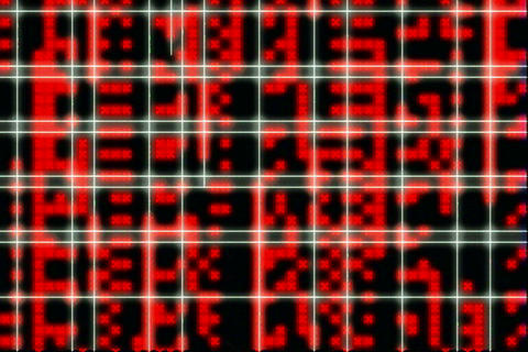 Grid redX dataflow Stock Video Footage