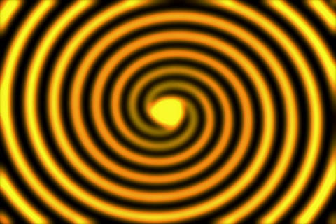 Rings Spiral Golden Stock Video Footage