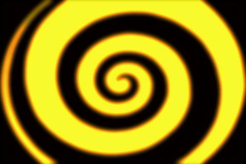 Rings Spiral Golden 3 Stock Video Footage