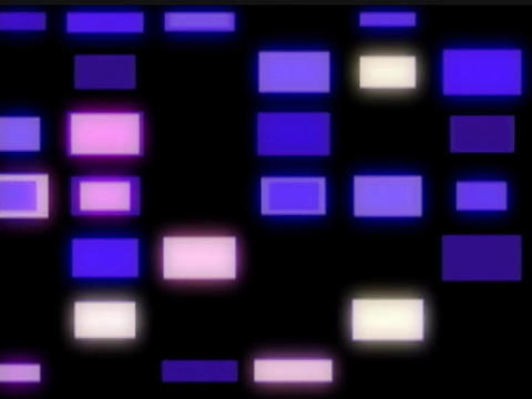 Blue Squares Pulse Stock Video Footage