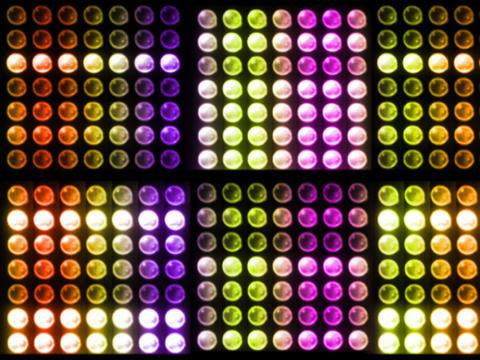 D1 BUlbRack Color Stock Video Footage