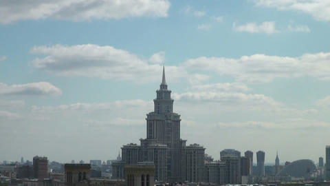 University at Moscow, Russia Stock Video Footage