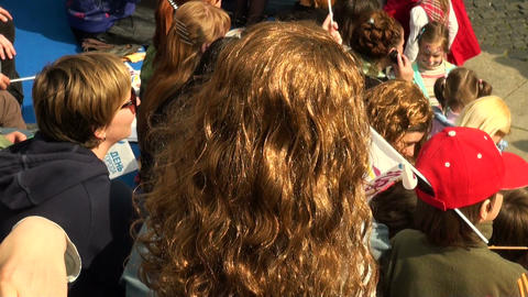 Girl in a wig Stock Video Footage