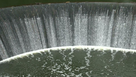 The dam, waterfall Stock Video Footage