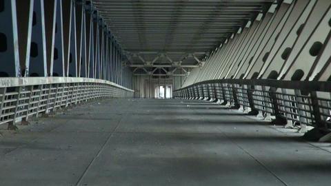The reinforced concrete bridge Stock Video Footage