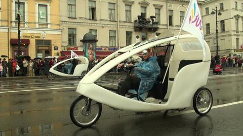 Rickshaw Stock Video Footage