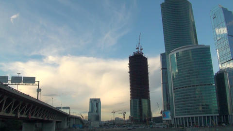 City-center In Moscow stock footage