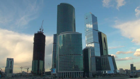 City-center in Moscow Stock Video Footage