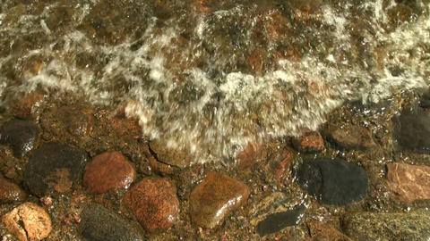 Red granite under water Footage
