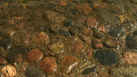 Red granite under water Stock Video Footage