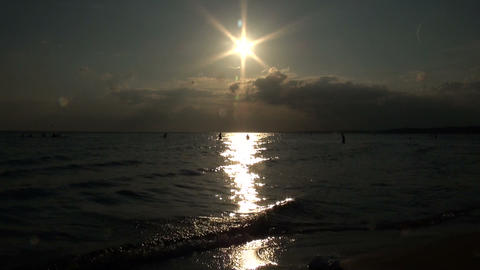 Evening beach Stock Video Footage