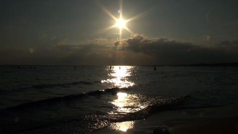 Evening beach Stock Video Footage