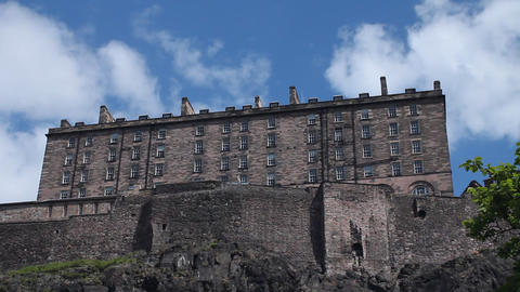 The Castle of Edinburgh Stock Video Footage