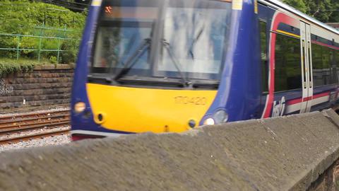 Scottish train passing Footage