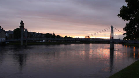 Inverness at the sunset Stock Video Footage