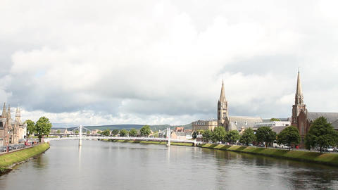 The River In Inverness stock footage