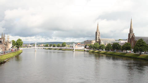 The river in Inverness Stock Video Footage