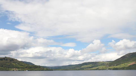 Loch Ness, in Scotland Stock Video Footage