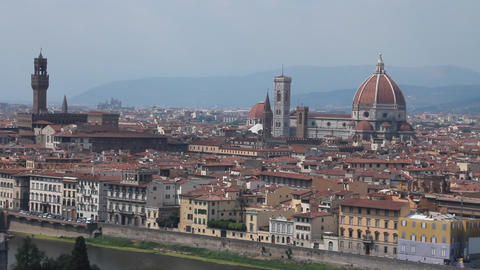 "View of Florence, the ""duomo"" and the town hal Footage"