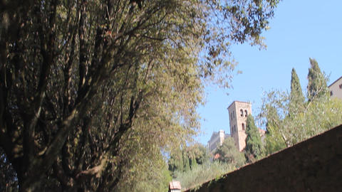 Via Crucis in Cortona, Italy Stock Video Footage