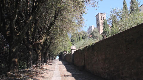 Via Crucis in Cortona, Italy Footage