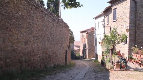 Little Italian street in Cortona Stock Video Footage