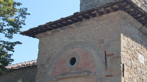 San Cristoforo's church in Cortona Stock Video Footage
