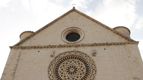 Basilica of San Francesco (Saint Francis) in Assis Stock Video Footage