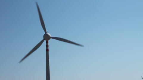 Static shot of a wind turbine Stock Video Footage