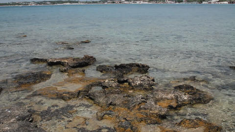 Rocks, sea and beaches Stock Video Footage