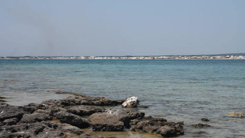 Beaches and sea in southern Italy Stock Video Footage