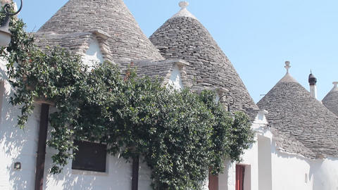 Trulli, a traditional apulian dry stone hut Stock Video Footage