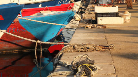 Fish market in the south of Italy Stock Video Footage