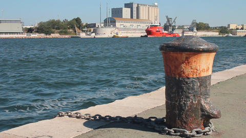 Port Of Brindisi stock footage