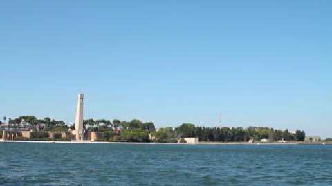 Monumento al marinaio in Brindisi Stock Video Footage