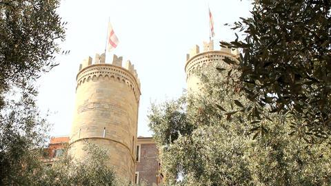 Porta Soprana, in Genoa Stock Video Footage
