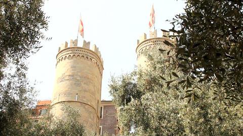 Porta Soprana, in Genoa Footage