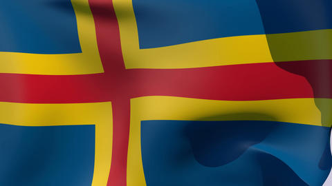 Flag of Aland Stock Video Footage