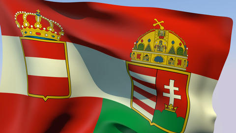 Flag of Austria-Hungary 1869-1918 Animation