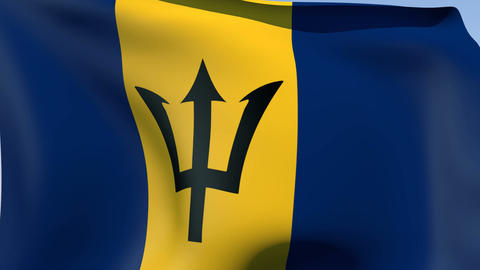 Flag of Barbados Animation