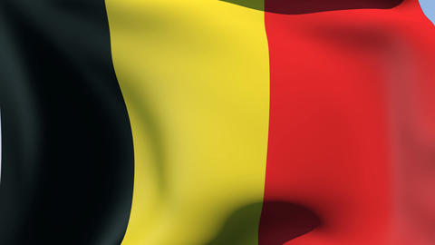 Flag of Belgium Stock Video Footage