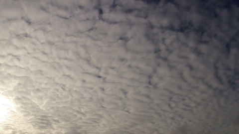 White clouds moving slowly towards camera Footage