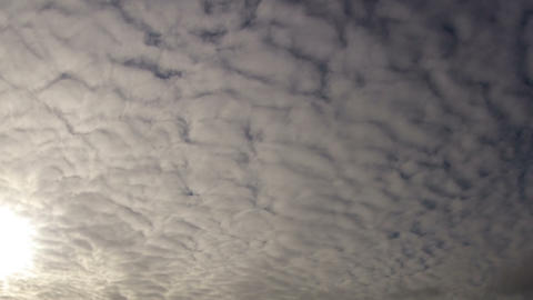 White clouds moving slowly towards camera Stock Video Footage