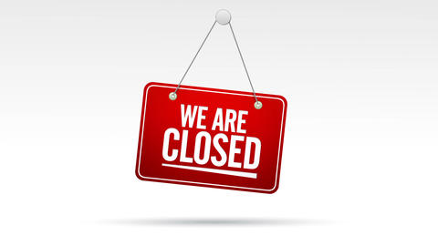 We are closed sign Stock Video Footage