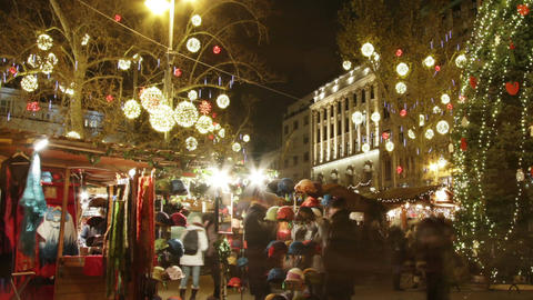 Christmas Market in Budapest 8 Timelapse Live Action
