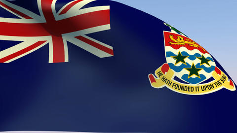 Flag of Cayman Islands Animation