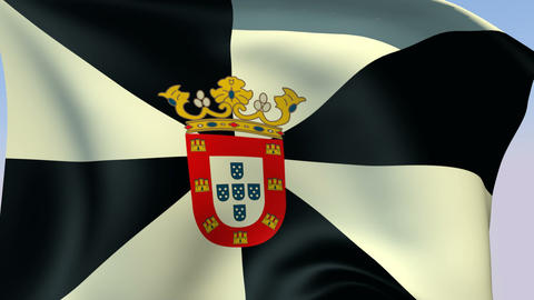 Flag of Ceuta Stock Video Footage