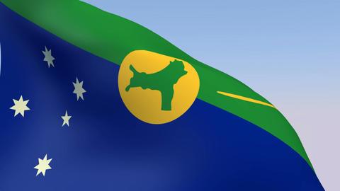 Flag of Christmas Island Stock Video Footage