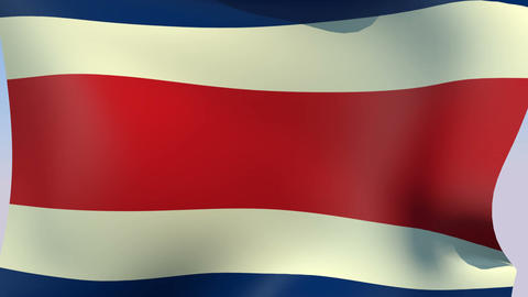 Flag of Costa Rica Animation