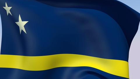 Flag of Curacao Animation